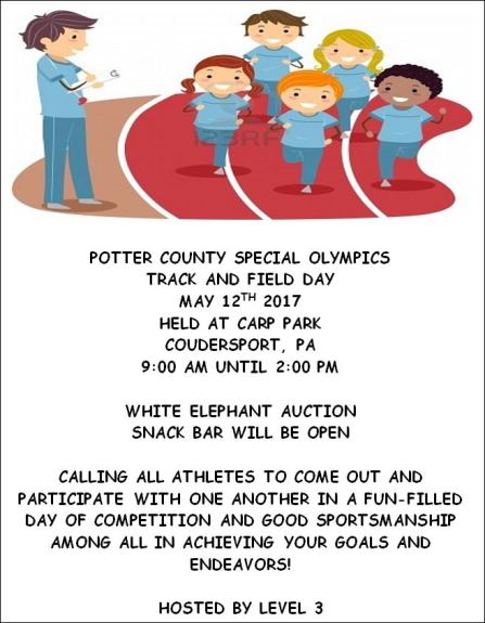 5-12 Potter County Special Olympics Track and Field Day