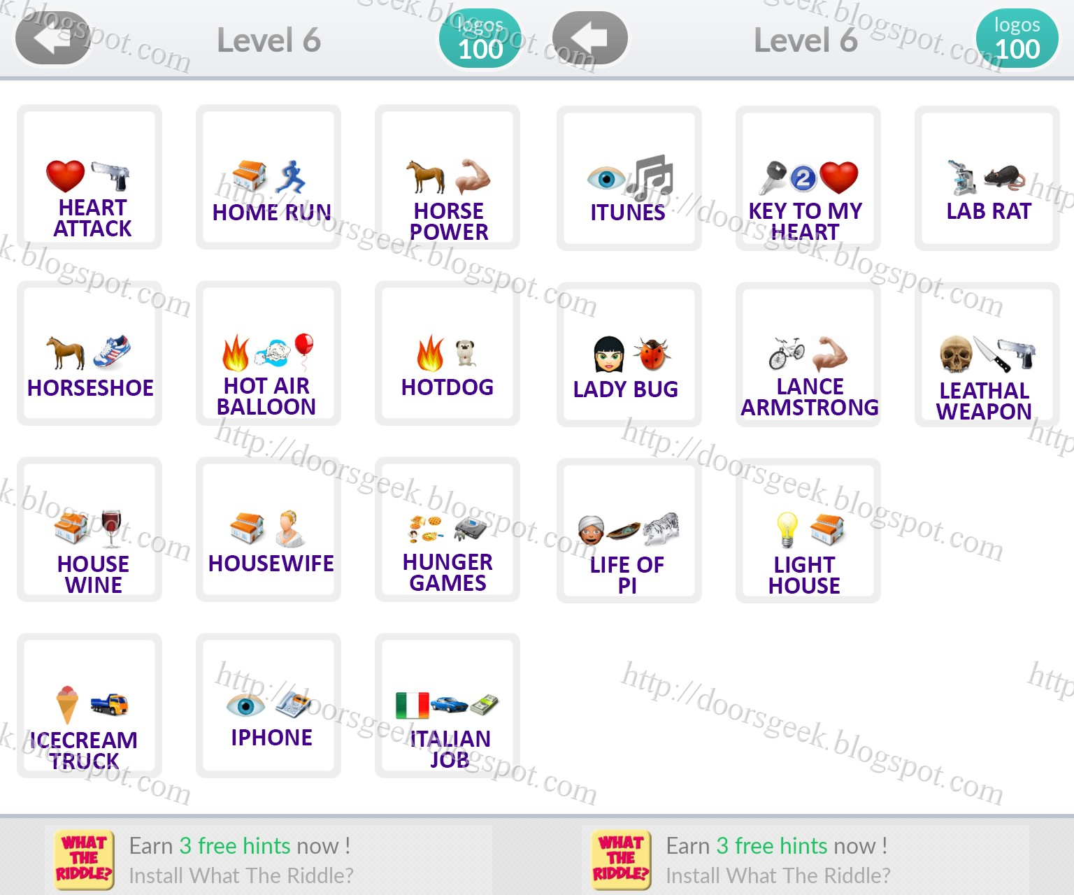 "Connu Logo Quiz Emoji [Level 6] Answers by ""bubble quiz games"" ~ Doors Geek RX86"