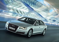 Silver Audi A8 L TDI  HD Wallpaper