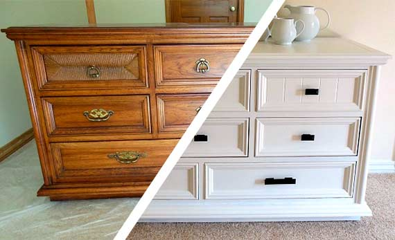 Decoraci n diy ideas y manualidades de decoraci n como - Como pintar muebles de madera ...