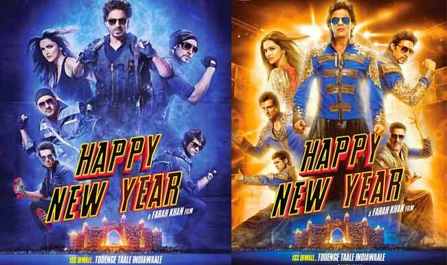 Happy New Year (2014) movie poster, shahrukh khan