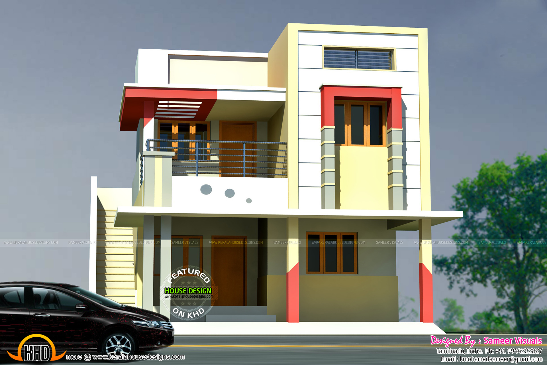 1600 sq ft tamil house plan for Tamilnadu home design photos
