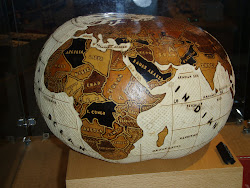 Globe of the World, carved from a calabash gourd, Museum of the American Indian, Washington DC