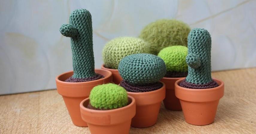 Tecnica Amigurumi Cactus : Happyamigurumi: Crocheted cactus, cactus crochete