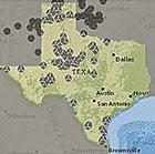 General locations of wind plants in Texas. (Credit: U.S. EIA)