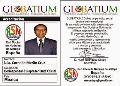 ACREDITACIÓN OFICIAL RED NACIONAL DE NOTICIAS DE MALAGA ESPAÑA.
