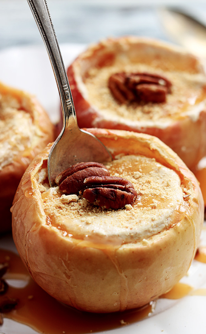 Cheesecake Stuffed Baked Apple Recipe