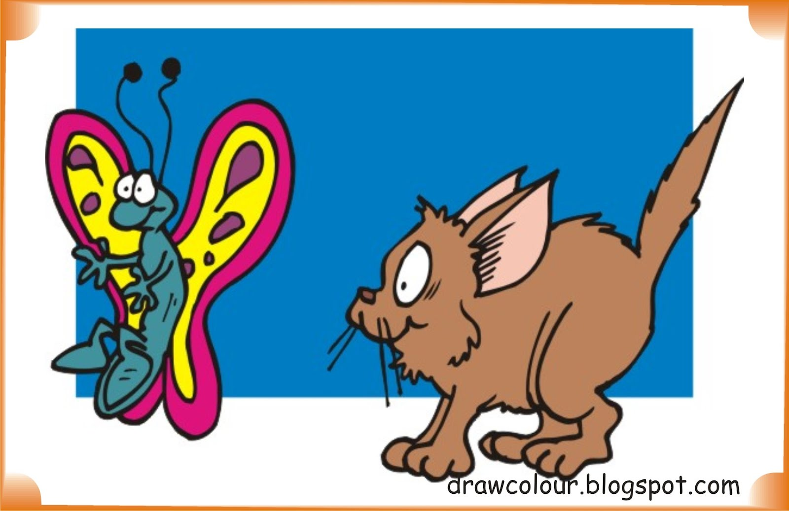 cat_and_butterfly-coloring-pages