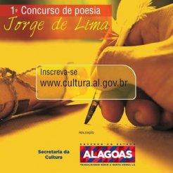 Secult lança edital do 1º Concurso de Poesia Jorge de Lima para estudantes de Alagoas