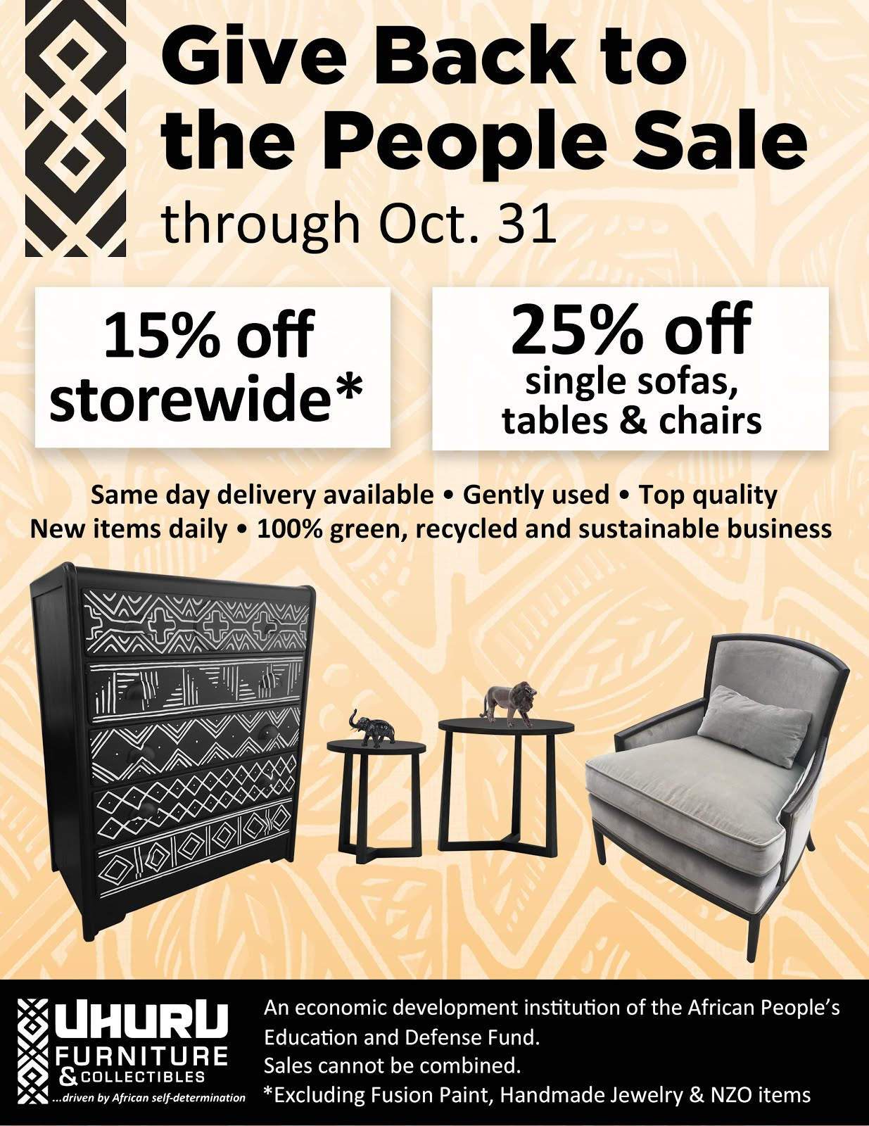 This month at Uhuru Furniture: