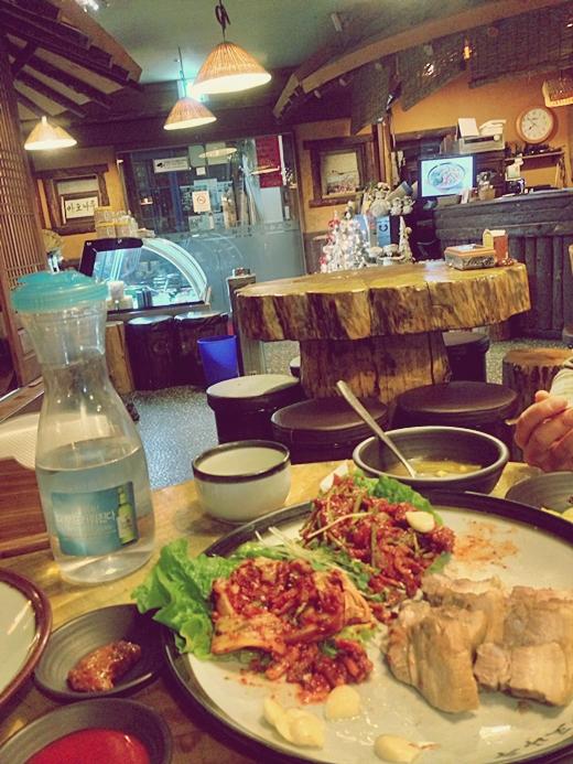 mapo naru restaurant seoul korea bossam skate