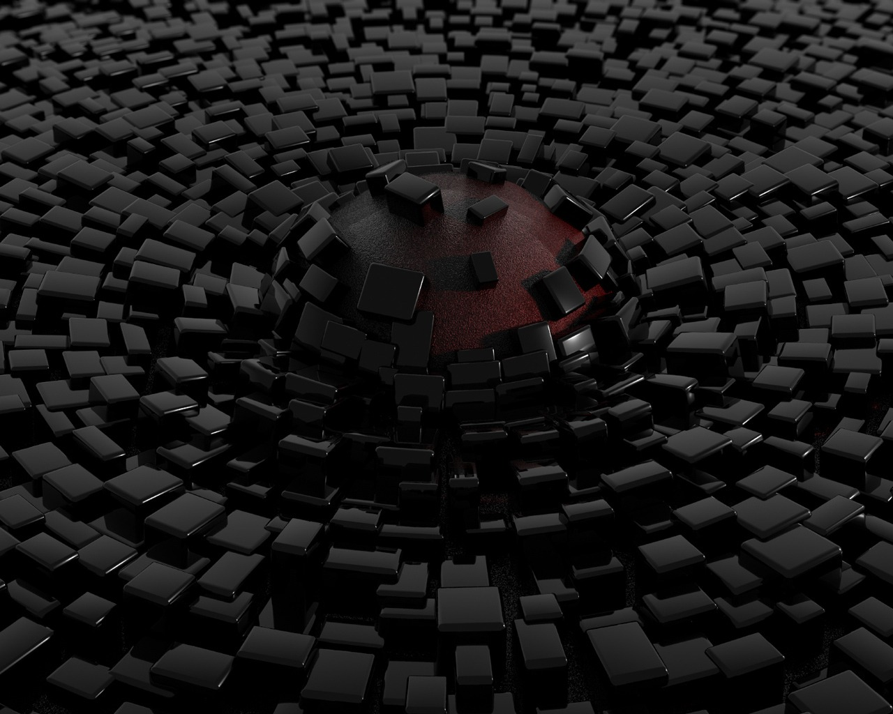 3d abstract black blocks hd wallpaper hd wallpapers for Black block