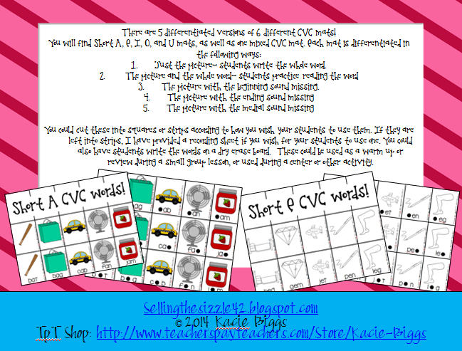 http://www.teacherspayteachers.com/Product/Differentiated-CVC-word-writing-1075311