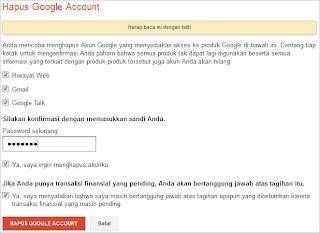 Hapus Akun Email