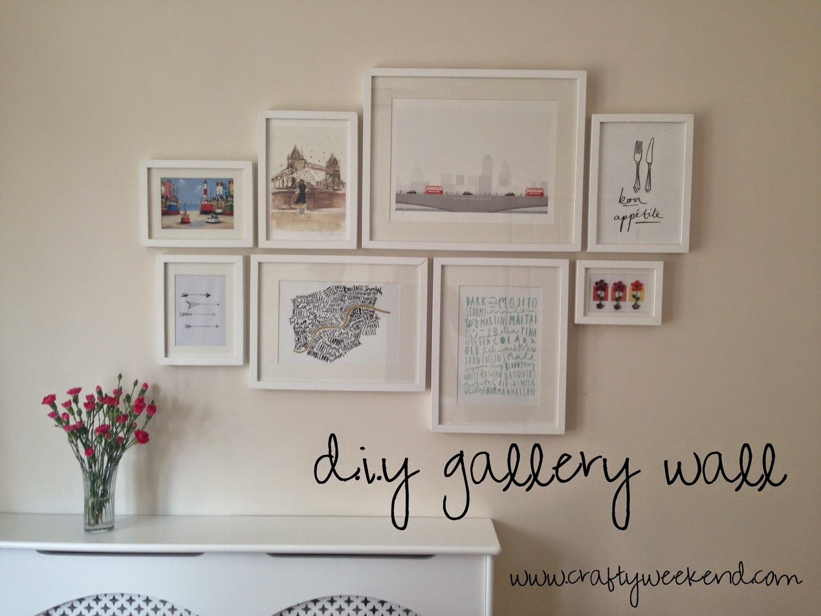 DIY Gallery Wall ~ Crafty Weekend: Craft projects for the weekend