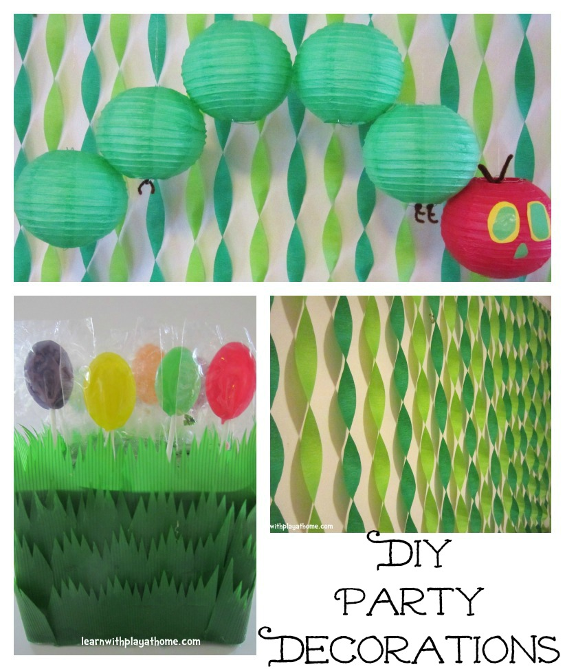 For my son's first birthday we had a Very Hungry Caterpillar Party .