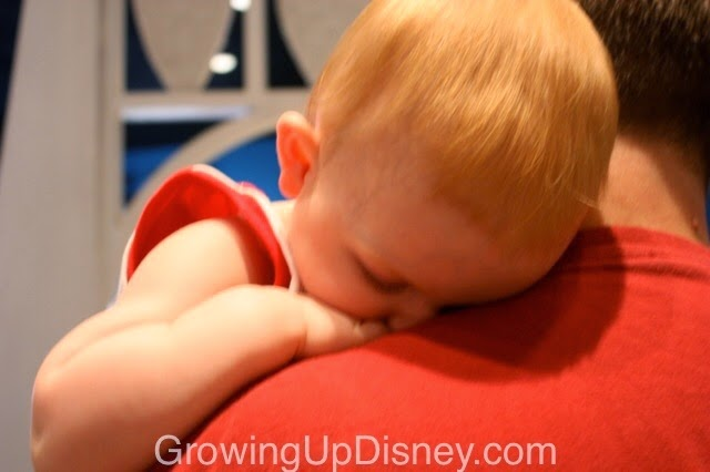 baby sleeping at walt disney world