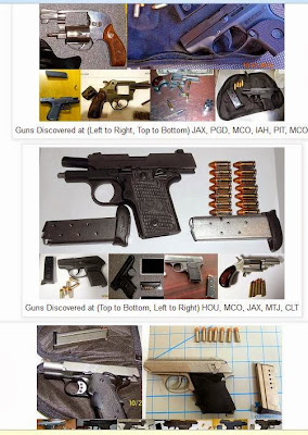Gun brought to the airport statistics