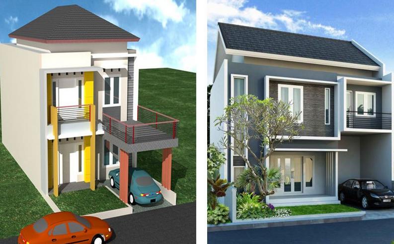 Desain Rumah Minimalis Dua Lantai Modern dan Terbaru