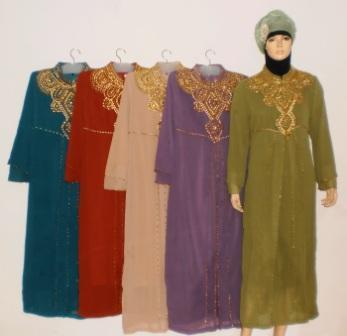 Gamis Pesta Muslim Gp033 Grosir Baju Muslim Murah Tanah