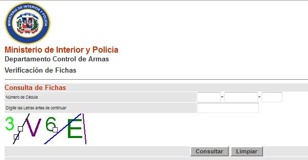 Laversi quieres saber si tiene una ficha en for Pagina del ministerio de interior y justicia