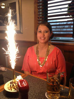 Birthday dessert with sparklers