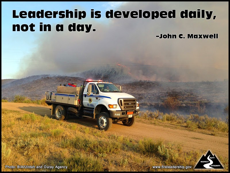 Leadership is developed daily, not in a day. –John C. Maxwell