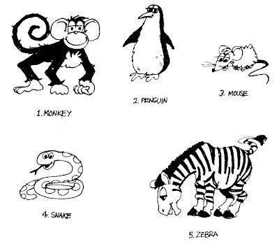 atas Adalah nama dan gambar hewan dalam bahasa Ingris Secara umum dan
