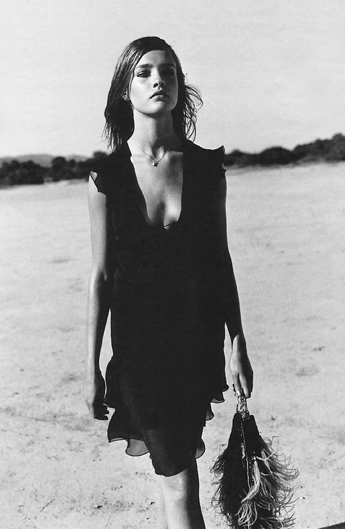 via fashioned by love | Natalia Vodianova in Baby Doll | Marie Claire France September 2001 (photography: Jacques Olivar)