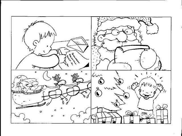 Fichas Infantiles: Secuencia temporal de la navidad para infantil