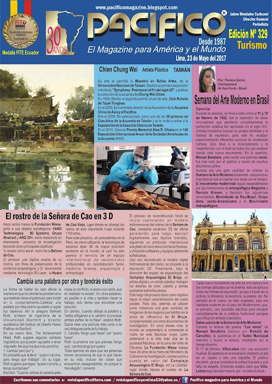 Revista Pacífico Nº 329 Turismo