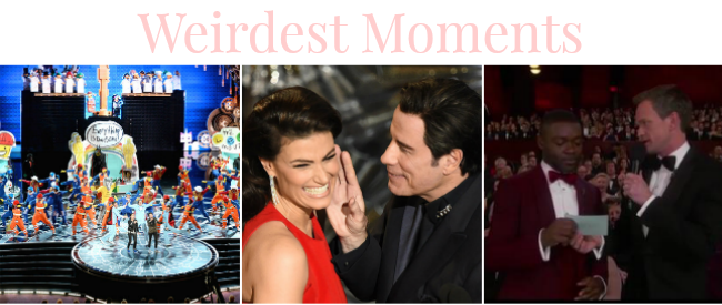 Oscar 2015 weirdest moments