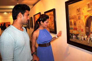 Payal Rohatgi Unveils Nitin Shete's art exhibition