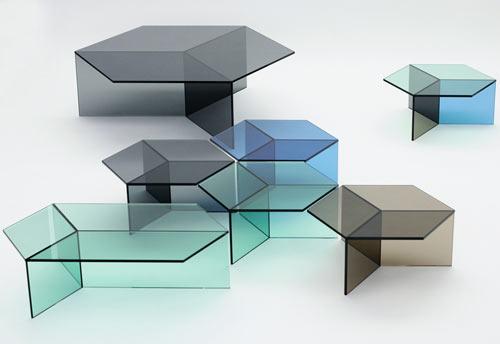 Geniales y modernas mesas de cristal quiero m s dise o - Mesas decorativas ...