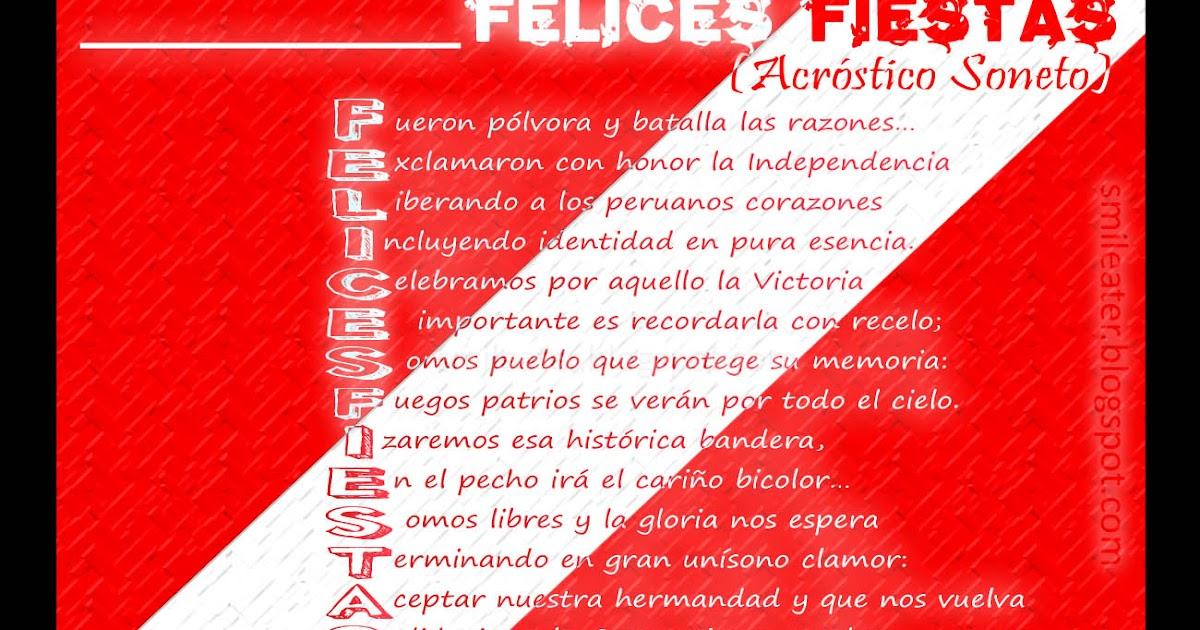 Smileater 2nd: ACROSTICO PERU FIESTAS PATRIAS 28 de julio ...