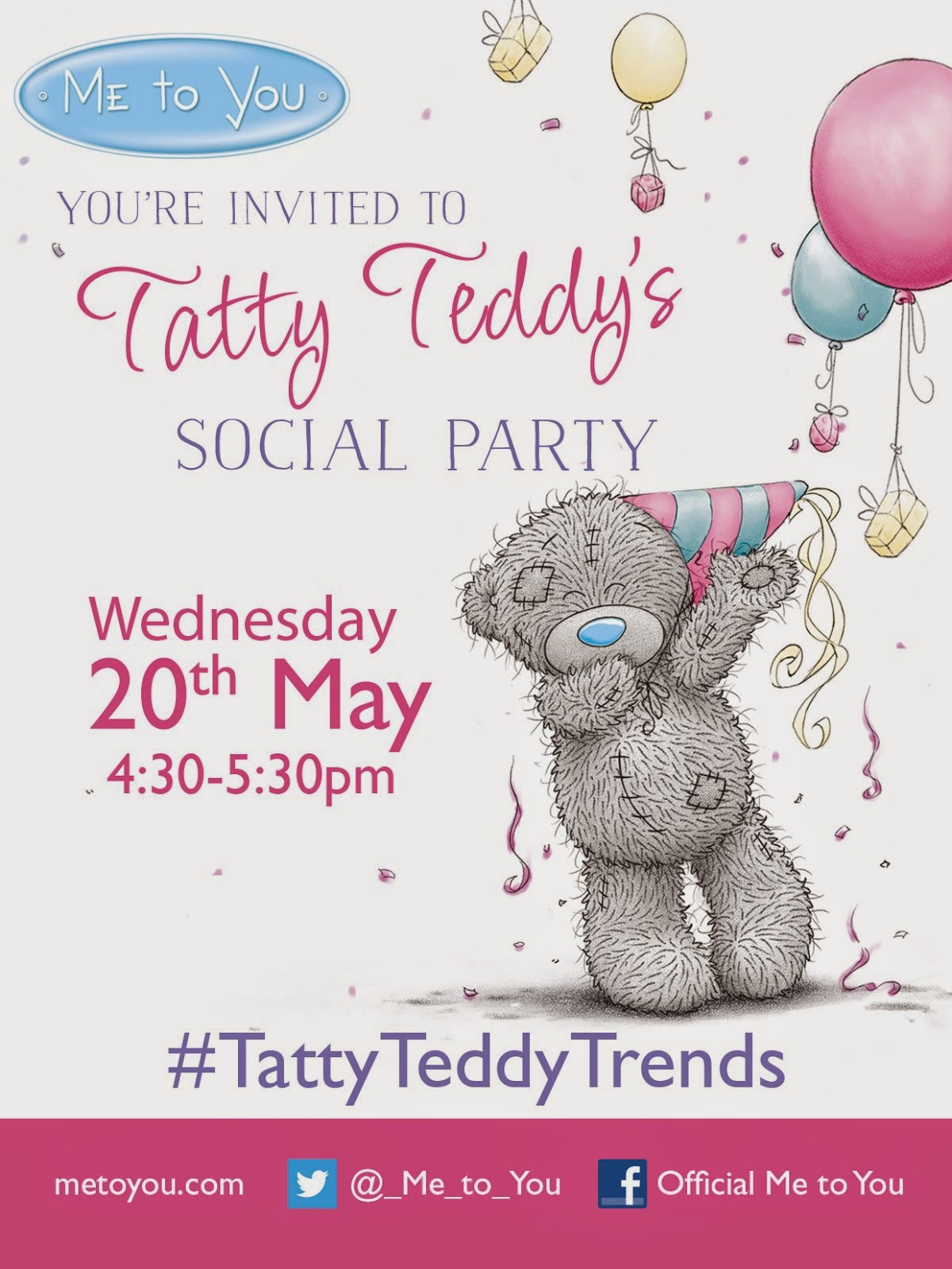 I'm A Tatty Teddy's Twitter Party Host