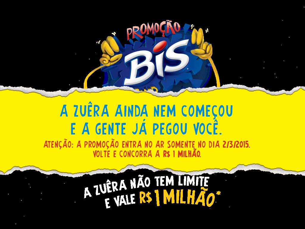 Participar promoção Bis 2015 Bis Zuera