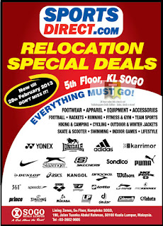 SportsDirect.com Relocation Special Deals Sale 2013