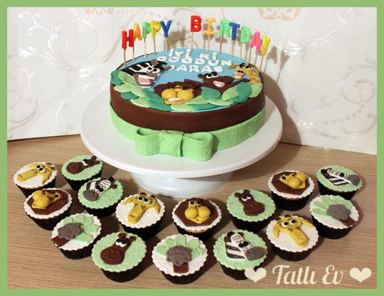 pasta ve cupcake kulesi