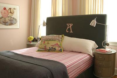 dormitorio rosa con gris