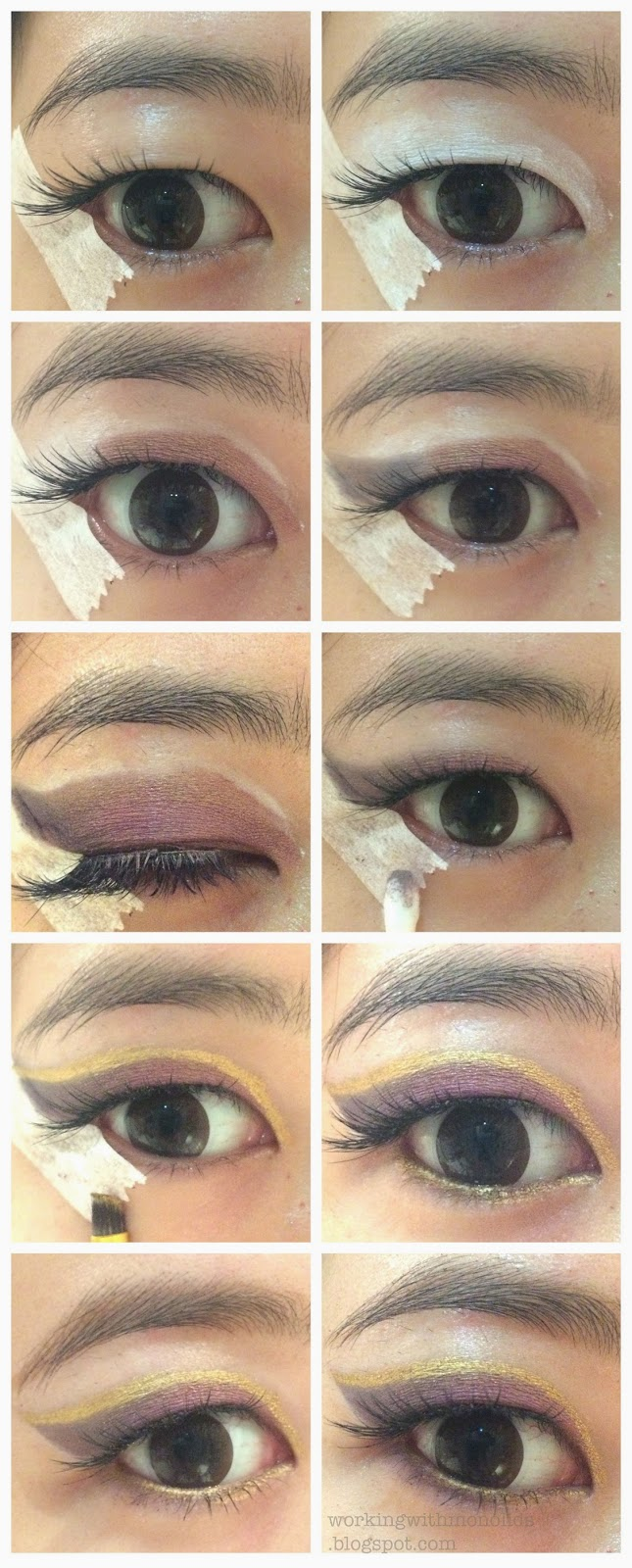 Workingwithmonolids tutorial gold lined gradient liner heres the pictorial baditri Gallery