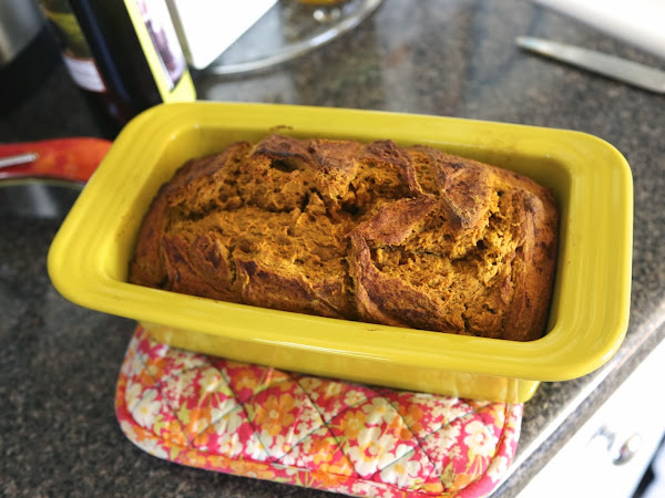 No Guilt Pumpkin Protein Bread