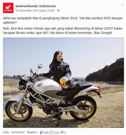 Honda Pancing Respon VTR250 Lewat Facebook dan Twitter