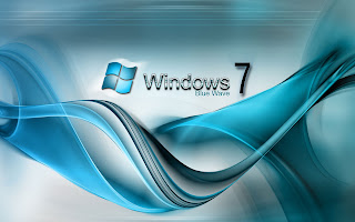 Windows 7 Blue Wave Wallpapers
