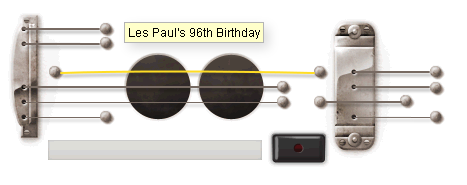 Les Paul's 96th Birthday Google Doodle
