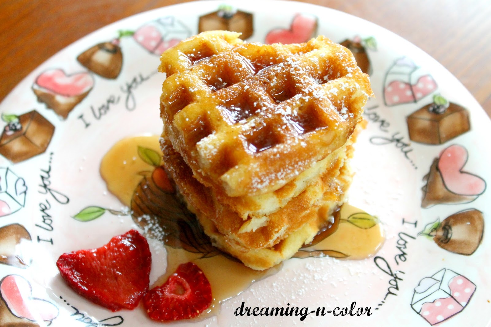 dreamingincolor: Valentine Breakfast {The World's Best Waffles}