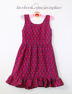 pink indian cotton summer dress  by jayasplace