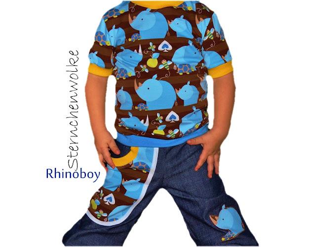 lillestoff Kinderstoff Rhinoboy aus GOTS Biostoff