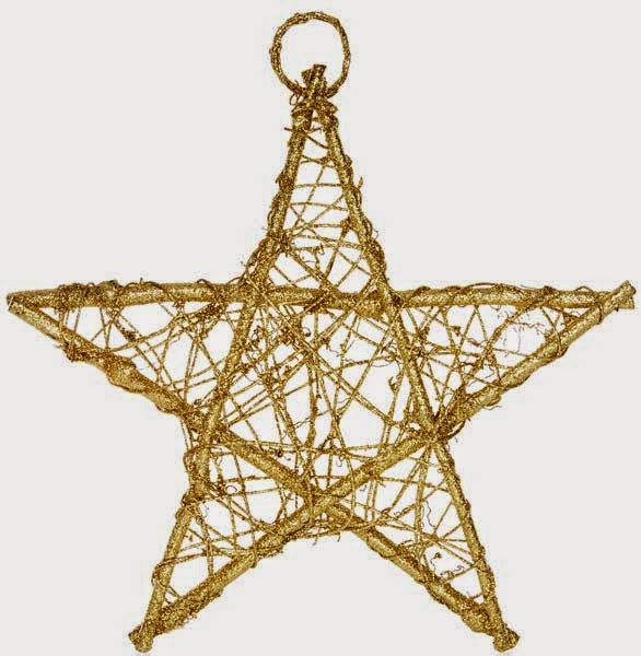 Estrella dorada para adornar en Navidades de Primark