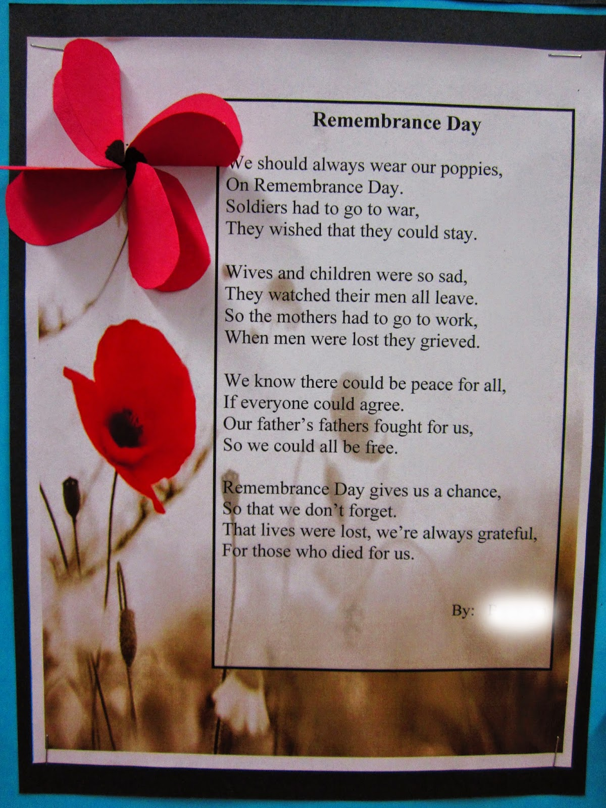 Runde S Room Remembering Remembrance Day